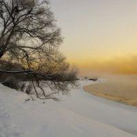 Десна, март, туман :: Дубовцев Евгений
