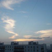 Облако-завитушка в тёплом тоне :: Валерий