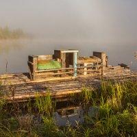 Плот на озере :: Сергей Сол