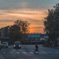 Вечерняя заря.  Ижевск – город в котором я живу! :: Владимир Максимов