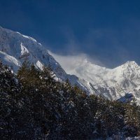 IMG_6659 ветер снег вершины :: Олег Петрушин