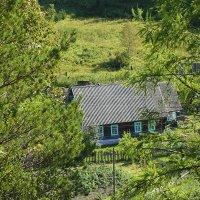 Сибирский домик на окраине поселка :: Екатерина Торганская