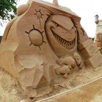 Выставка песчаных скульптур в Перопавловской крепости С-Петербурга :: Виктор Елисеев