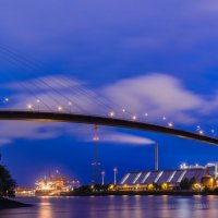 Мост через Эльбу (Köhlbandbrücke) :: Сергей Бордюков