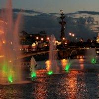 .. Городской пейзаж (вариант с фонтанами №2) .. :: Арина Дмитриева