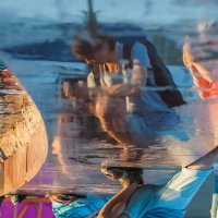 Двойное отражение мгновения. :: Ирина Токарева