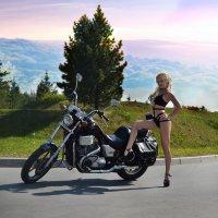 Девушка и мотоцикл :: Anna Albert