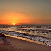 Закат на Азовском море.. :: Клара