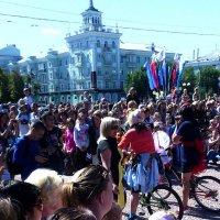 Как мы отпраздновали День Луганска! Леди на велосипеде :: Наталья (ShadeNataly) Мельник