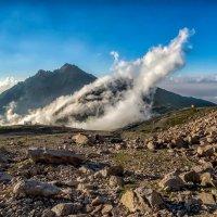 размышления об определении  линии горизонта по облакам :: Владимир Амангалиев