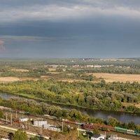Над железной дорогой и над Клязьмой во Владимире :: ИГОРЬ ЧЕРКАСОВ