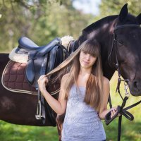 портрет с лошадью :: Алена (Творческий псевдоним А-ля Moment)