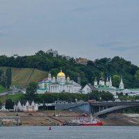 Церкви Нижнего Новгорода. Вид с Волги. :: Сергей Тагиров