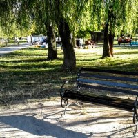 Скамейка в парке :: Наталия Каминская