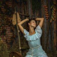 """Картина """"Девушка с яблоками"""" :: Андрей Володин"""