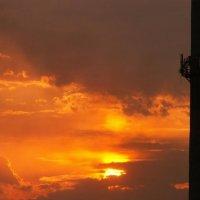 Африканский закат в отдельно взятом сибирском городе. :: Ivolga