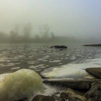 Туман над рекой. :: Евгений Голубев