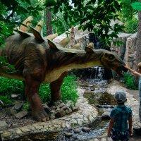 Дети кормят динозавра :: Света Кондрашова
