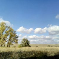 синева облака степь :: София
