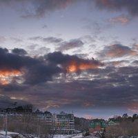илитные дома на закате :: Валерий