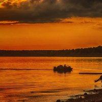 Закат на Северной Двине :: Иван Клещин