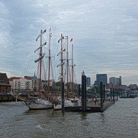 Segelschiffe. Fischmarkt Hamburg :: Nina Yudicheva