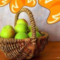 Корзинка с яблоками :: Nina Yudicheva