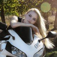 Байкерская фотосессия для Анастасии :: Ольга Гудым