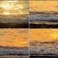 Адлер. Море в лучах заходящего солнца :: Нина Бутко