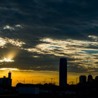 Силуэт вечернего города :: MVMarina
