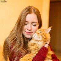 Девушка с котом :: Екатерина Фокс