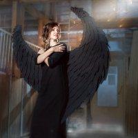 """Фотокартина """"Black Angel"""" :: Ирина Митрофанова студия Мона Лиза"""