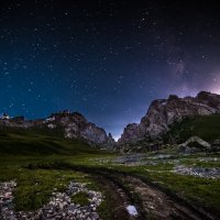 Закат Луны на Кок-Кыя :: Александр (Gars) Притеев