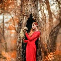 Осенняя фотопрогулка с девушкой и хорьком :: Ольга Невская