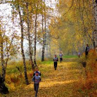 Бежим по осенней дорожке... :: nadyasilyuk Вознюк
