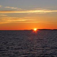 Закат на Белом море. :: Сергей Крюков
