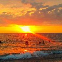 закат на Черном море :: Антонина Владимировна Завальнюк