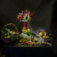 Две корзинки, хризантемы и тархун :: Дубовцев Евгений