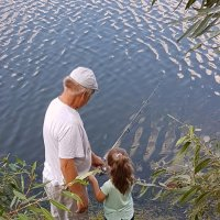 Дед с внучкой :: Наталья Губелева