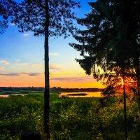 Красивый вечер на Волге :: Владимир Безбородов