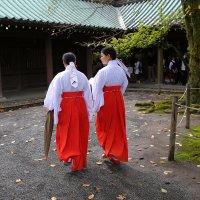 Служители при храме в префектуре Сидзуока. :: Ilona An
