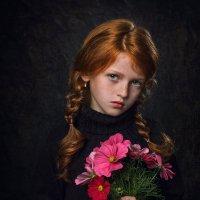 Портрет с цветами :: Елена Ерошевич