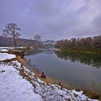 Октябрь, Десна, первый снег на Луге :: Дубовцев Евгений