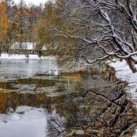 Первый снег на озере :: Viacheslav Birukov