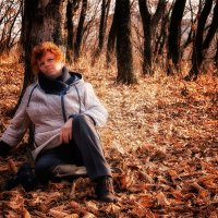 В осеннем лесу :: Нина Борисова