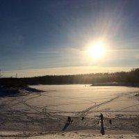 Река встала. Зимняя рыбалка -  рай для мужиков! :: Lu Clever