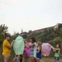 Запуск воздушных шаров. :: Николай Сидаш
