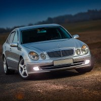Mercedes на вечернем пейзаже :: Евгений Мезенцев