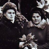 Мама (справа) в Никитском саду. 1967 г. :: Нина Корешкова