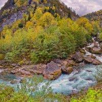 Панорама с горной рекой. :: Евгений Кузнецов